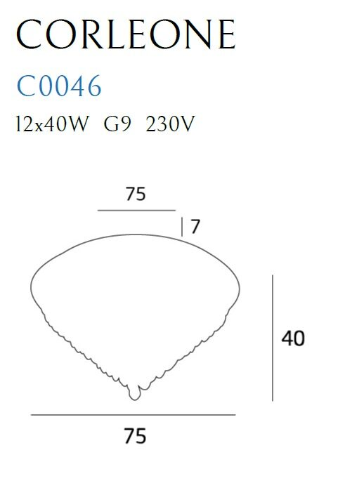 Lubinis šviestuvas CORLEONE-C0046