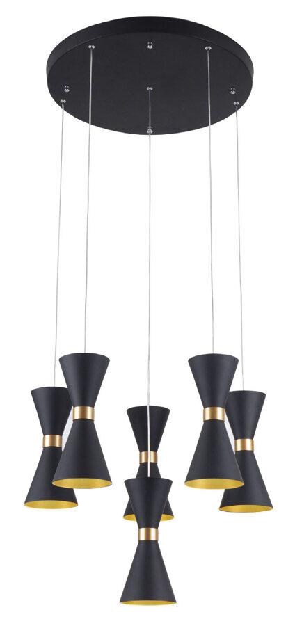 Pakabinamas šviestuvas CORNET (juoda-auksas)