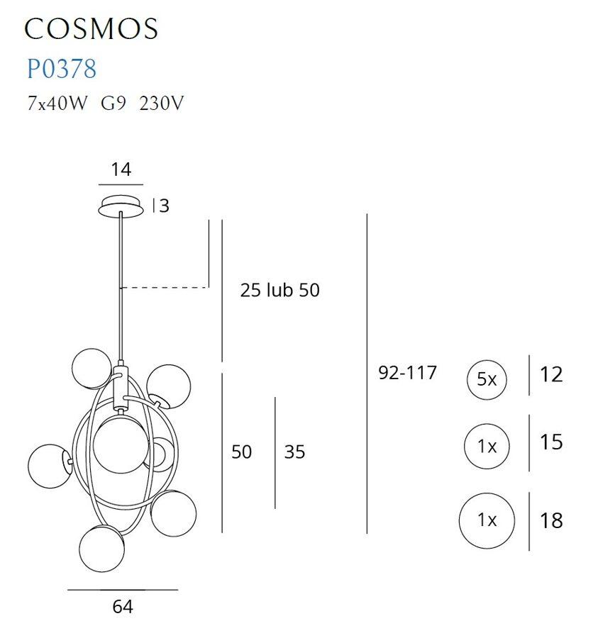 Pakabinamas šviestuvas COSMOS-P0378