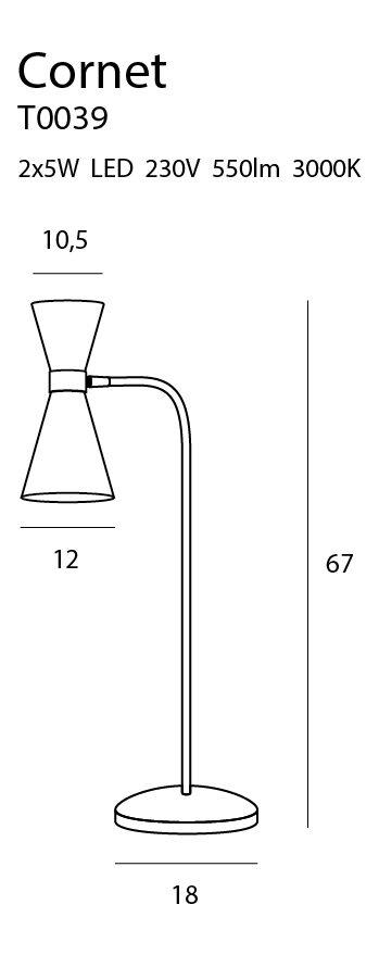 Stalinis šviestuvas CORNET-T0039