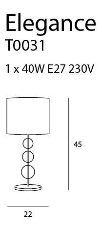 Stalinis šviestuvas ELEGANCE-T0031