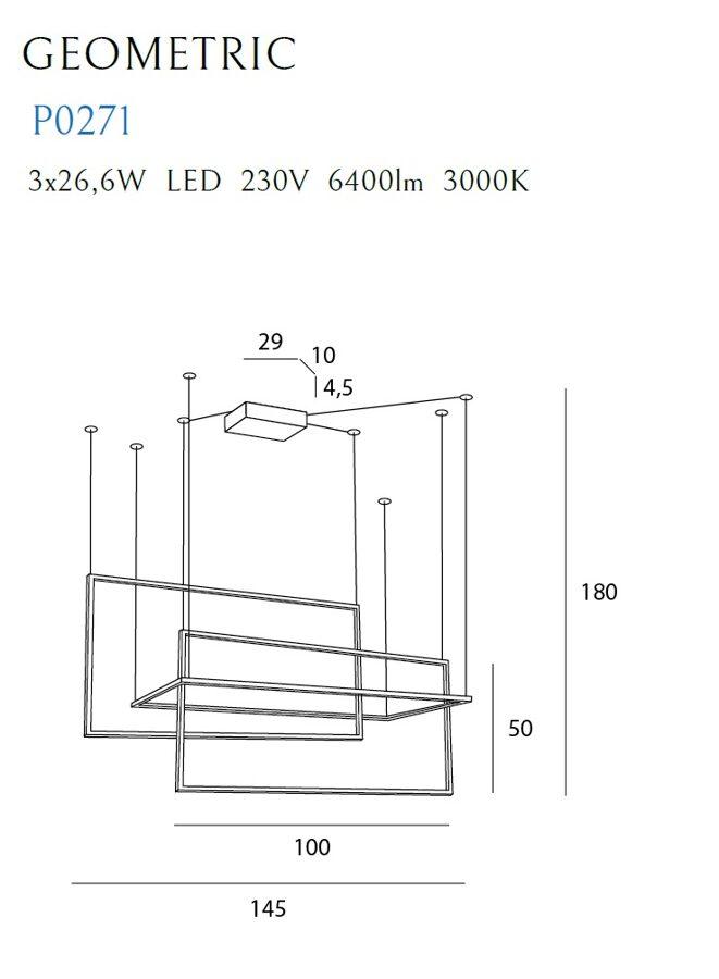 Pakabinamas šviestuvas GEOMETRIC-P0271