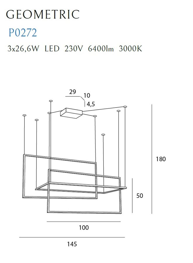 Pakabinamas šviestuvas GEOMETRIC-P0272