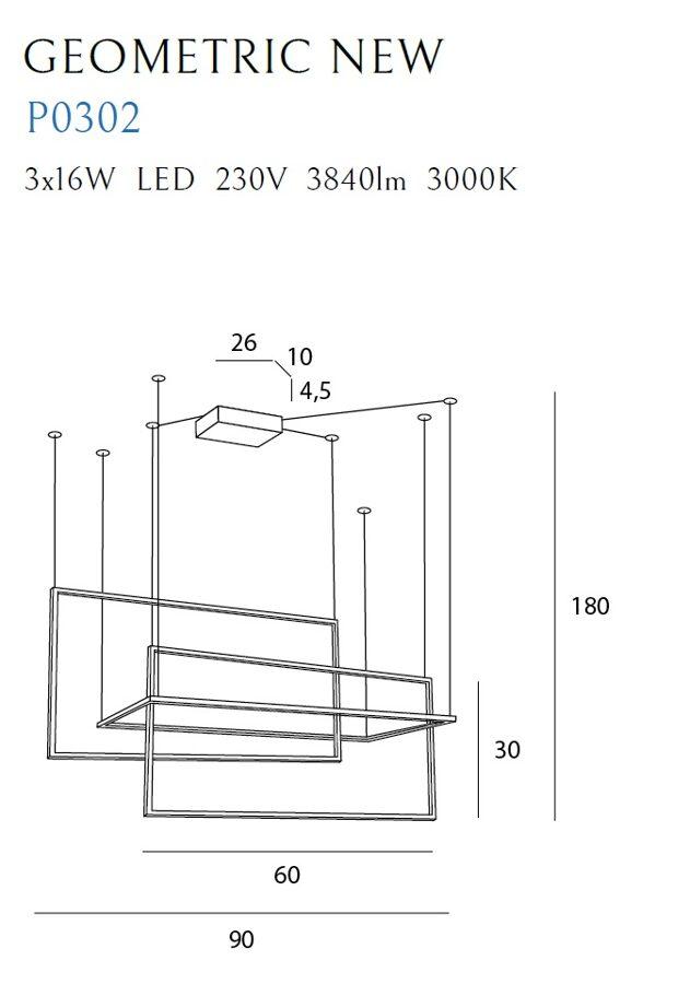 Pakabinamas šviestuvas GEOMETRIC NEW-P0302