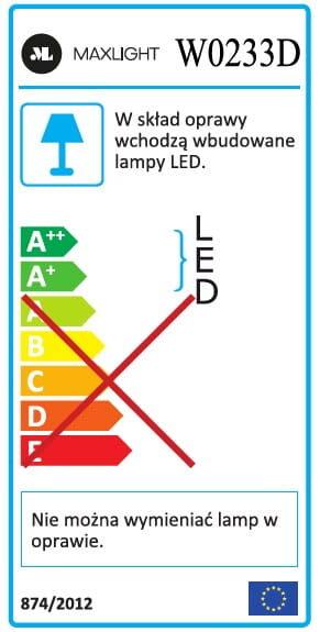 Sieninis šviestuvas GEOMETRIC-W0233D (Su šviesos reguliavimo funkcija)