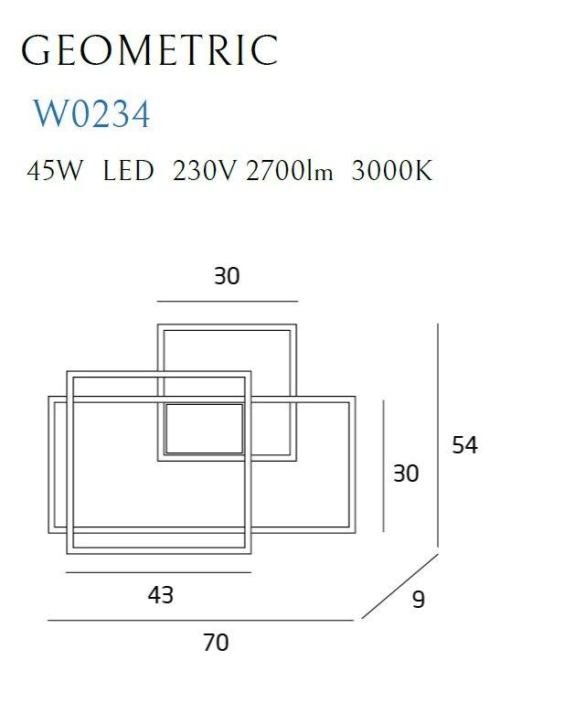 Sieninis šviestuvas GEOMETRIC-W0234