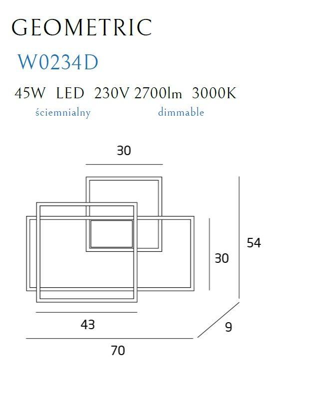 Sieninis šviestuvas GEOMETRIC-W0234D
