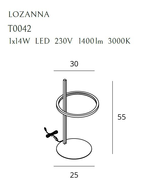 Stalinis šviestuvas LOZANNA-T0042