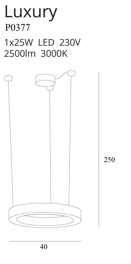 Pakabinamas šviestuvas LUXURY-P0377