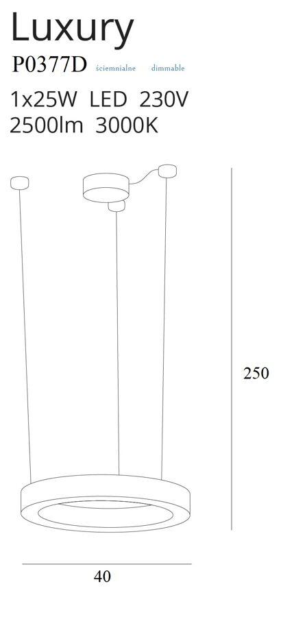 Pakabinamas šviestuvas LUXURY-P0377D