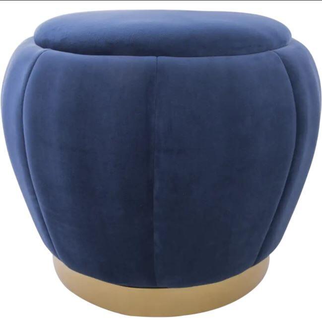 Pufas VELVET - mėlynas