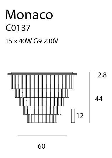 Lubinis šviestuvas MONACO-C0137