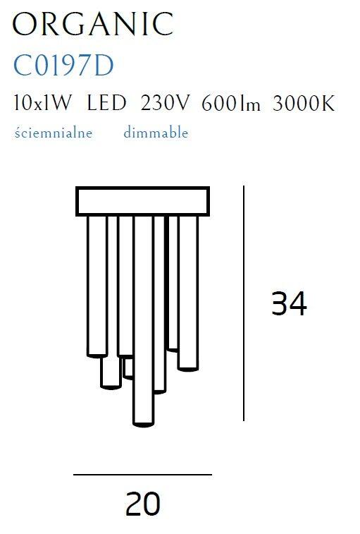 Lubinis šviestuvas ORGANIC-C0197D