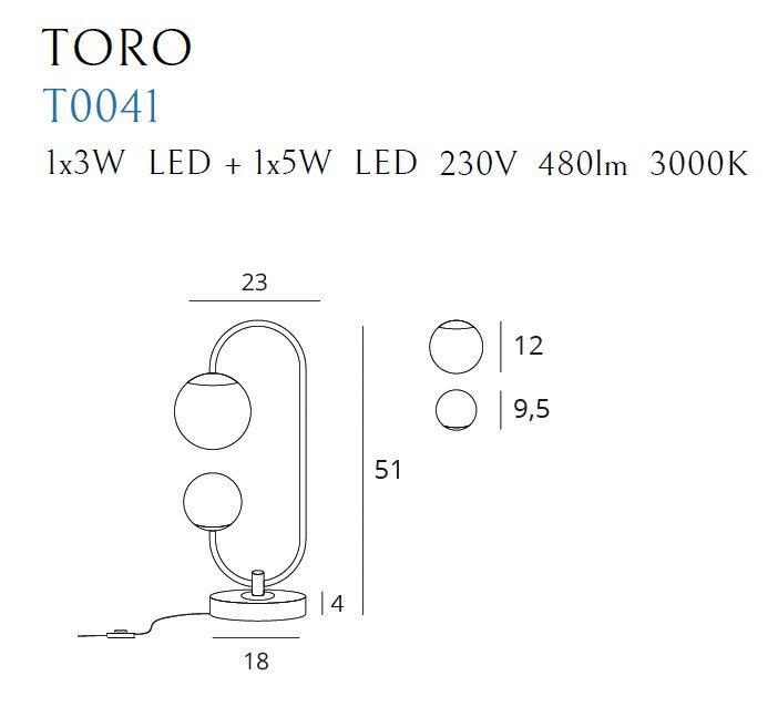 Stalinis šviestuvas TORO-T0041