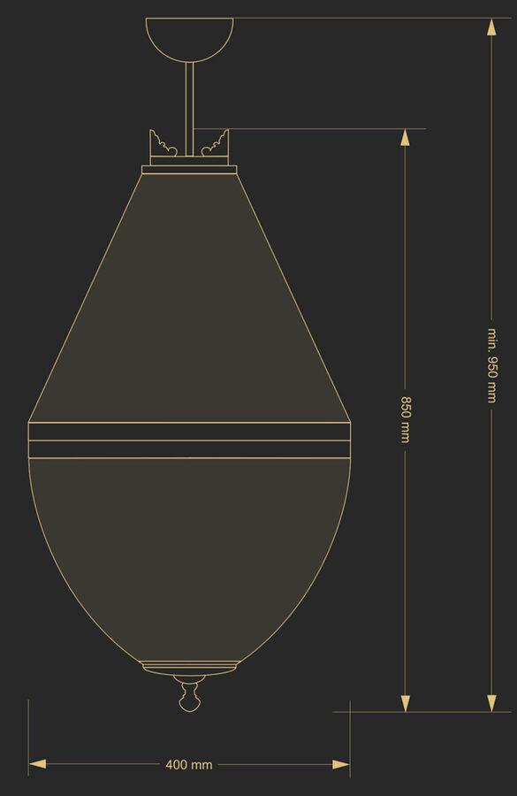 Pakabinamas šviestuvas AREZZO1-400